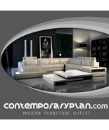 Ultra Modern Leather Sectional Sofa with Built in Lights & Headrest Cont... - $2,995.00