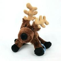 "Ganz Webkinz Moose 9"" Plush Reindeer Antlers Beanbag Stuffed Animal Toy ... - $14.50"