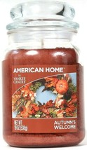 1 American Home By Yankee Candle 19 Oz Autumn's Welcome 1 Wick Glass Jar... - $26.99