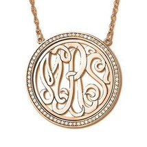 Personalized Double Initial Monogram Pendant in 14k Yellow Gold - $451.44