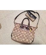 Authentic COACH 2 way Leather Shoulder Bag SATCHEL Purse #12963 W/ walle... - $96.31