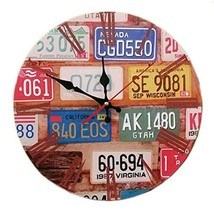 "George Jimmy 14"" Retro Unique Wooden Wall Clock Decor Silence Hanging Clock, 09 - $27.18"
