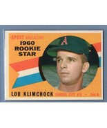 VINTAGE MLB 1960 TOPPS # 137 LOU KLIMCHOCK NM HIGH GRADE SET BREAK - $8.00