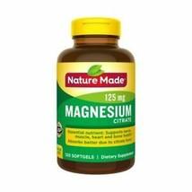 Nature Made Magnesium Citrate 120 Liquid Softgels Gluten-Free, No Artificial - $15.04