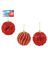 4 Inch/100Mm Red Gem Jubilee Ornament 3 Designs/Case of 48 - $150.13 CAD