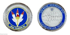 "LACKLAND AIR FORCE BASE WARTHOGS 321ST TRAINING SQUADRON 1.75"" CHALLENGE... - $16.24"