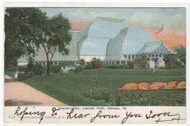 Conservatory Lincoln Park Chicago Illinois 1909 postcard - $5.94