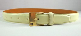 Womens Ralph Lauren Belt Beige Italian Leather Size M - $29.65
