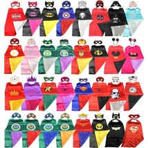 Polyester Super Hero Costumes Cape & Mask for Children Halloween Party C... - $12.21