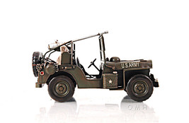 """1940 Willys Overland Jeep Model Desk Decor 11"""" 1:12 Scale US Army WWII New - $79.95"""