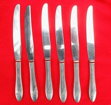 6X Dinner Table Knives Oneida Queen Bess II Silverplate Tudor Flatware 9... - $38.61