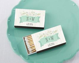 Personalized Match Box Bridal Shower Wedding Anniversary Rustic Vintage - $61.70+