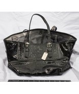 Coach Black Satchel Handbag Shoulder Purse tthc - $216.15