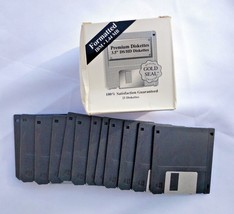 """Lot NEW FORMATTED IBM 1.44MB 3.5"""" DS/HD DISKETT... - $23.95"""