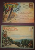 Lot of 2 Souvenir Views Travel Booklets Utah and Mohawk Trail, Mass. 1942 - $18.80