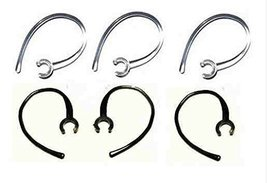 Set of 6 Replacement Bluetooth Ear Loop Hook Clip Clear/Black (8mm) Come... - $2.44