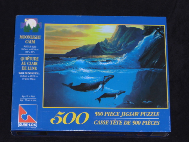 MOONLIGHT CALM Jigsaw Puzzle 19x14 Sure-Lox 500 pieces