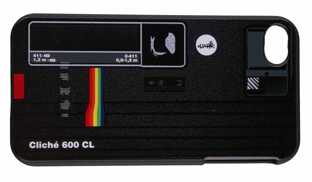 Cliche Skateboarding Black Polaroid iPhone 4/4S Phone Protective Snap Case NIB
