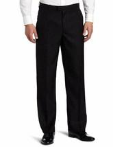 Perry Ellis Mens Portfolio Classic-Fit Flat-Front Sharkskin Pant Black 38W x 32L - $28.41