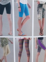 McCalls Sewing Pattern 6360 Misses Ladies Leggings Four Lengths Size 6-1... - $17.46