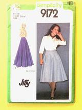 Simplicity 9172, 1970s Vintage Misses' Skirt Patterns, Size 6 cut - $2.00