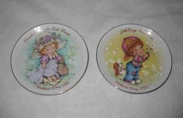 """Great Pair 5"""" 1981 And 1982 Mother's Day Plates Avon - $27.87"""