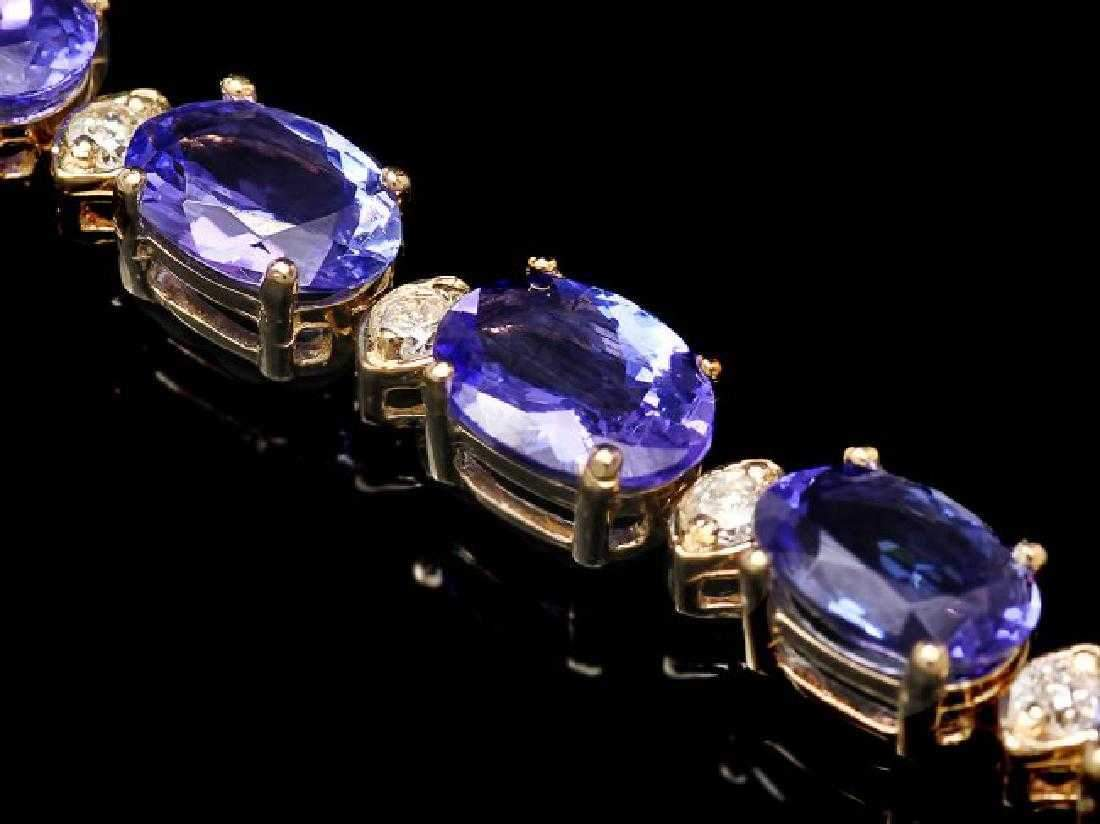 Tanzanite and Diamond Bracelets in 14K White or Yellow Gold, Stunning!