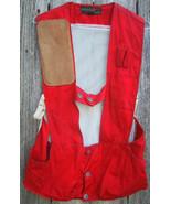 Hunter's Shooter's Padded Shoulder Game Vest Red 10X Sportsmen Size 34 U... - $10.00