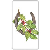 Holiday Horseshoe Kitchen Flour Sack Towel- by Mary Lake Thompson-Holiday! - $211,01 MXN