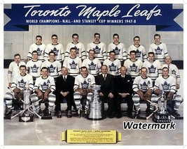 NHL 1947 - 48 Toronto Maple Leafs Stanley Cup Champs Team Picture 8 X 10... - $6.99