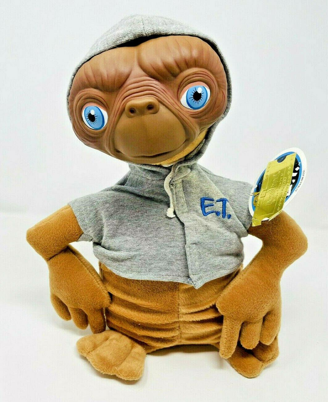 Universal Studios Exclusive ET Extraterrestrial Plush Toy Vinyl Plastic Face Tag - $34.99
