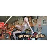 Cafe Racer, Motorcycle, Harley, Chopper Garage Wall Banner - Garage Girl... - $34.64
