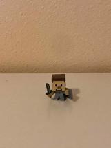 Action Figure Minecraft Mystery Mini Chest Series 2 Steve Sword Shield 2016 - $6.93
