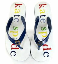 KATE SPADE Sandals 7 Blue JellyThong Flip Flops *EXCELLENT* WOMENS SZ 7 - $48.00