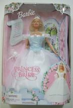 Barbie Princess Bride Doll Chimes Blue Bodice Veil Necklace Wedding 2000... - $39.11
