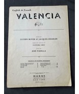 VALENCIA ~ 1925 ~ Vintage Sheet Music ~ English & French - £3.73 GBP