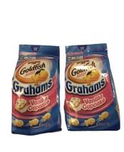 2 Pepperidge Farm Goldfish Vanilla Cupcake Baked Grahams Snacks 6.6 oz C... - $11.30