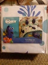 Disney PIXAR Finding Dory Nemo Full Kids Bed Sheet Set 4 Piece Polyester NEW - $39.19