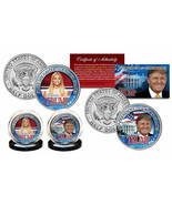 Donald & Ivanka Trump 45TH Presidente/Primeros Hija Jfk Medio Dólar 2 Mo... - $24.49