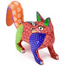 Handmade Alebrijes Oaxacan Copal Wood Carving Painted Folk Art Fox Figurine image 2