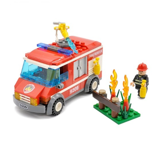 City Fire Rescue Truck Blocks 156pcs Bricks Building Blocks Fit Lego, used for sale  USA