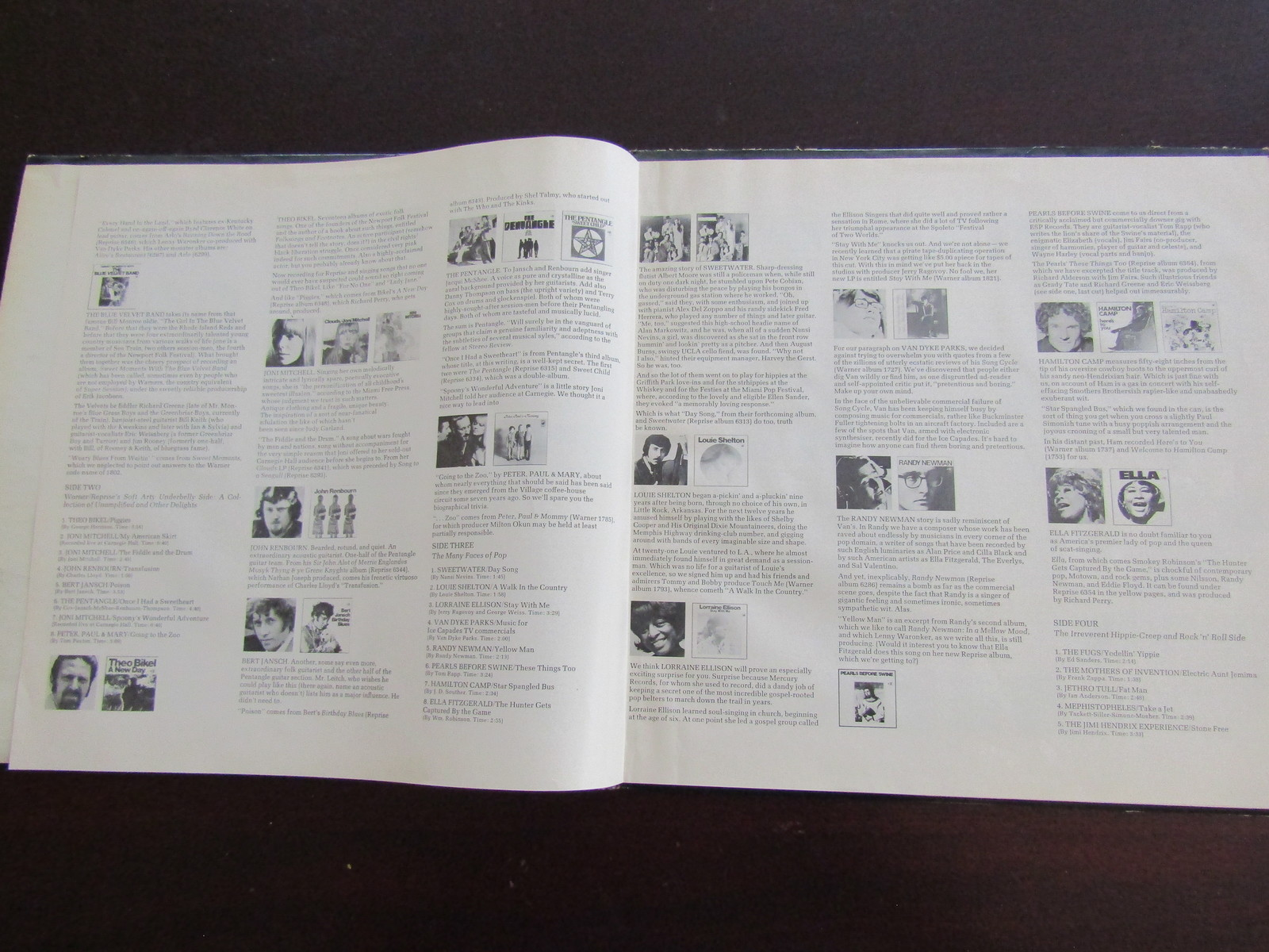 1969 warner-reprise record show LP record various artists VG+