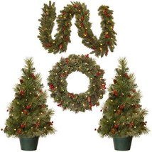 National Tree Holiday Decorating Assortment with 2 3 Foot Entrance Trees, 1 9 Fo image 3