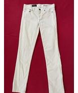 "Jcrew matchstick Ivory corduroy skinny pants size 24"" Waist regular - $19.11"