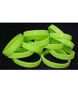 Lime Green Awareness Bracelets Lot of 12 Silicone Cancer Wristbands IMPE... - $8.52