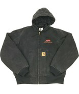 CARHARTT J060NX Hooded Duck Active Jacket QUILT Lined L Heavy Rugged Uni... - $64.35