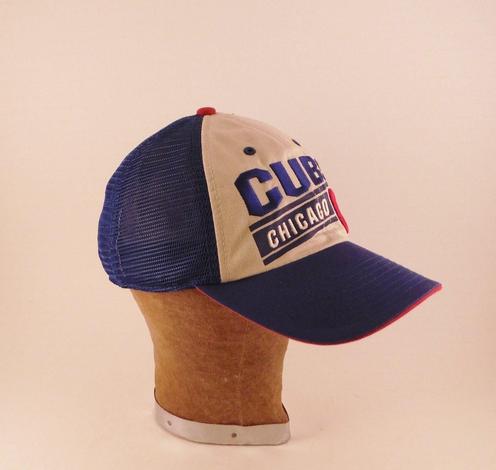 Vintage Chicago Cubs MLB Snapback Mesh Back Truckers Baseball Hat