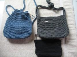 THE SAK small handbag purse lot (3) GRAY BLUE B... - $35.62