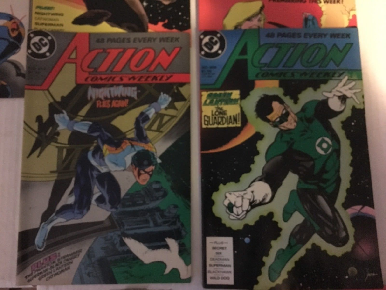 Action Comic #608 - 618 Superman DC Comic Book Lot VF Condition 1988 Nightwing