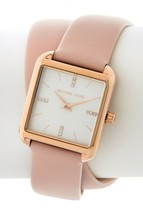 New Michael Kors Women's Drew Rose Gold Tone Pink Strap Watch MK2826 - $109.99